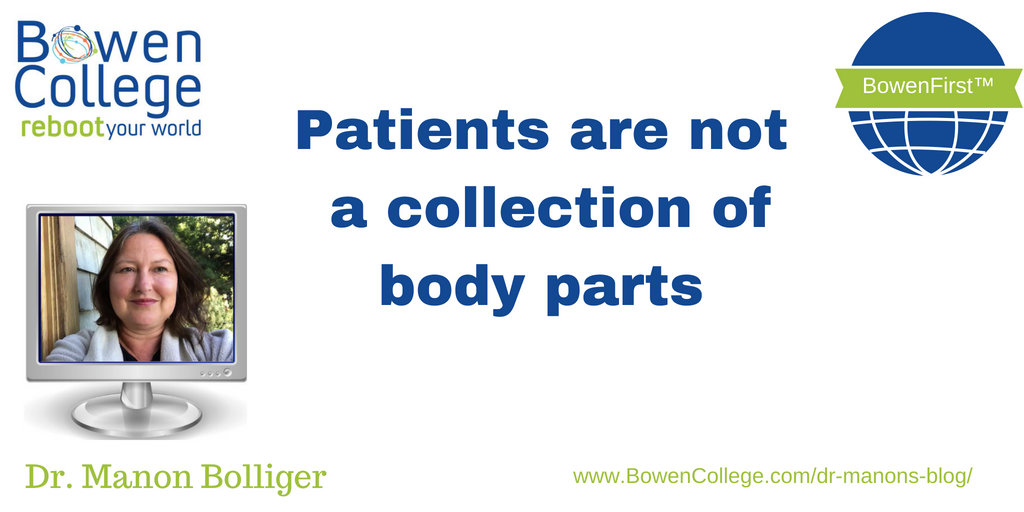 Patients are not a collection of body parts