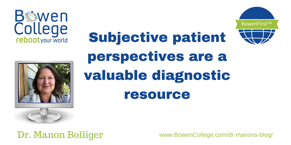 Subjective patient perspectives are a valuable diagnostic resource