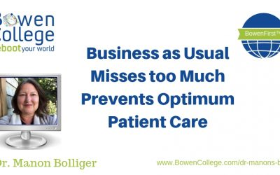 Business as Usual Misses too Much Prevents Optimum Patient Care