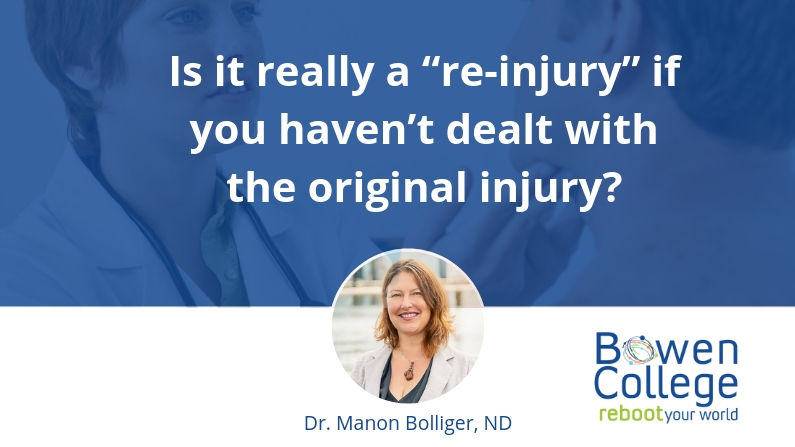 "Is it really a ""re-injury"" if you haven't dealt with the original injury?"