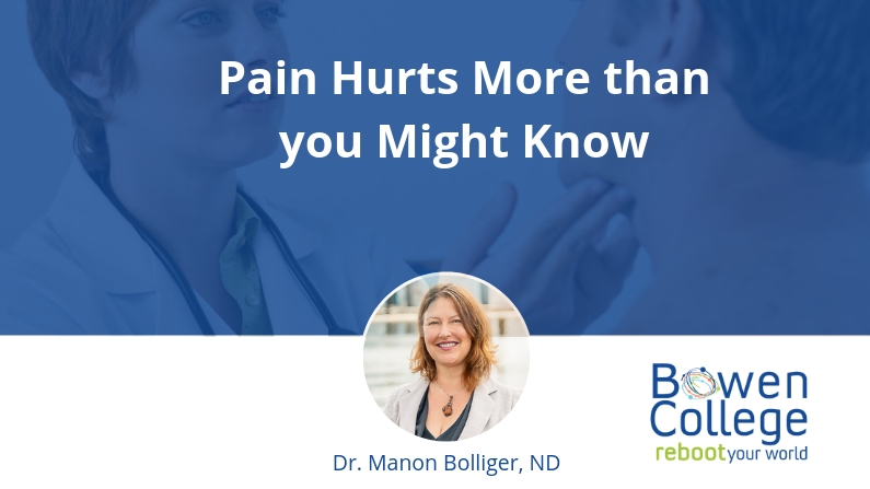 Pain Hurts More than you Might Know
