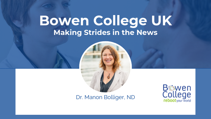 Dr. Manon Bolliger Blog Header Bowen College