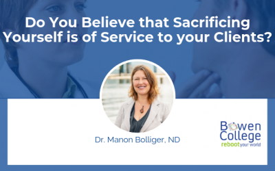 Do You Believe that Sacrificing Yourself is of Service to your Clients?