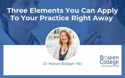 Three Elements You Can Apply to Your Practice Right Away