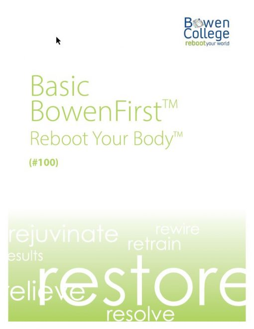 Basic BowenFirst™ Reboot Your Body Manual