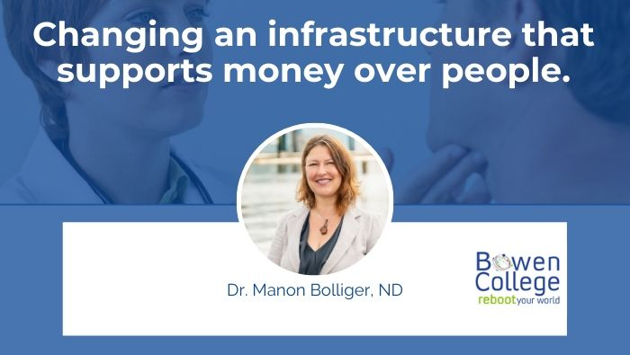 Changing an infrastructure that supports money over people.